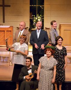 The cast of Beef & Boards Dinner Theatre's